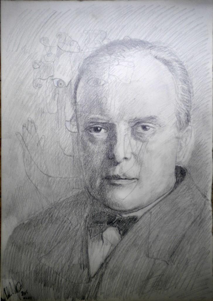Paul Klee, matita su carta, cm 35x50. 2014