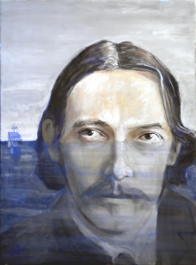 Robert Luis Stevenson, tempera su tela cm 50x70, 2014