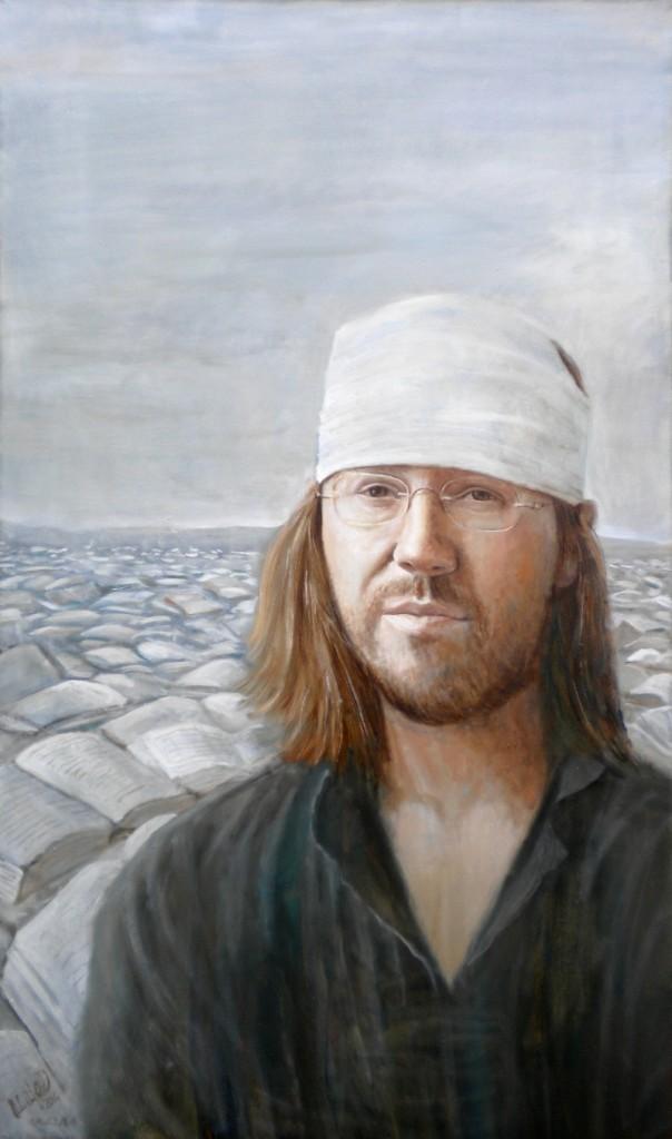 Ritratto di David Foster Wallace, olio su tela cm 120x70, 2014