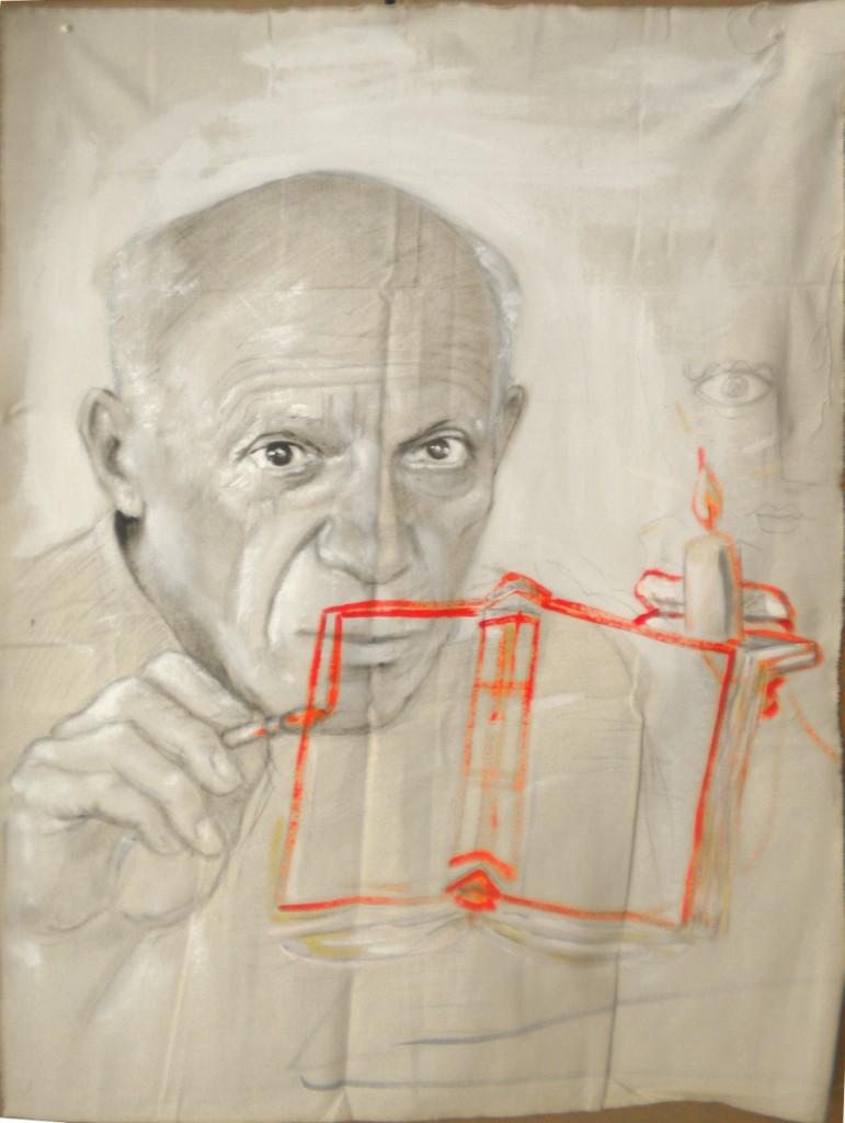 Pablo Picasso, tempera su tela grezza, 60x80