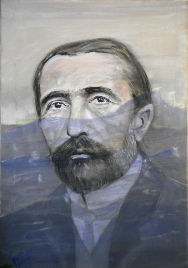Joseph Conrad, tempera su tela 60x80
