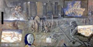 Civiltà in divenire, tempera su tela, cm 260x160, 2014