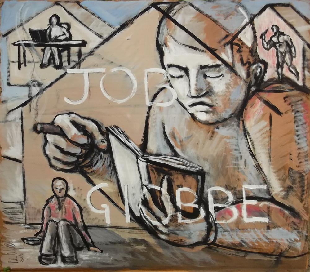 Job-Giobbe, tempera su cartone, 60x55, 2014